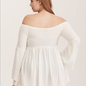 44e8622aec torrid Swim - NWT Torrid ivory smocked swim cover up or top